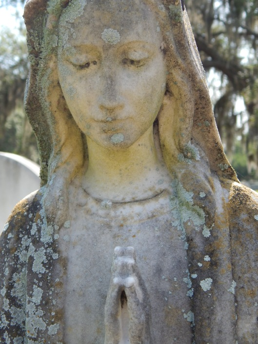A statue from Greenwich Cemetery in Savannah