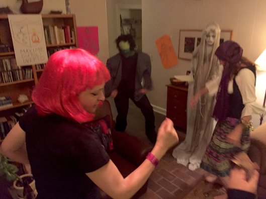 "It's not a murder mystery unless we dance--this time to ""The Monster Mash""."